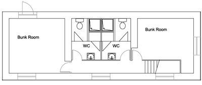 The Cottage at Gradbach                                         Scout Camp - First Floor Plan