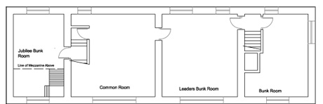 The Farmhouse at Gradbach Scout                                 Camp - First Floor Plan
